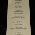 Andrade Menu and order of events
