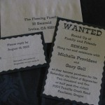 Gall Western wedding invitation