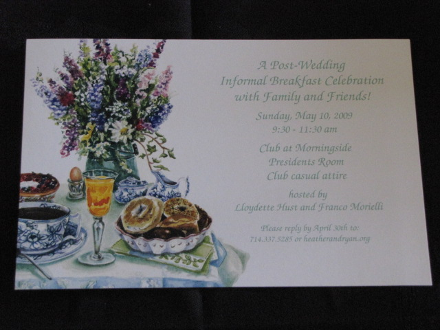 Hust Brunch invitation  after wedding