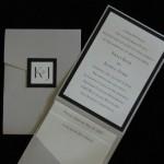 Kelly and Joshua pocketfold invite