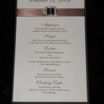 Mayte Menu with square rhinestone brown and Micah paper