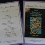 Menus Garcia and children coloring book menu