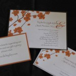 Orange Cherry Blossom invitation