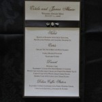 Estela Wedding Menu