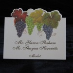 Place card with grapes