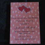 Post Wedding brunch invitation with hearts