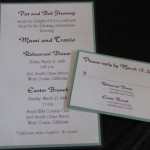 Rehearsal Dinner invite and easter brunch invite