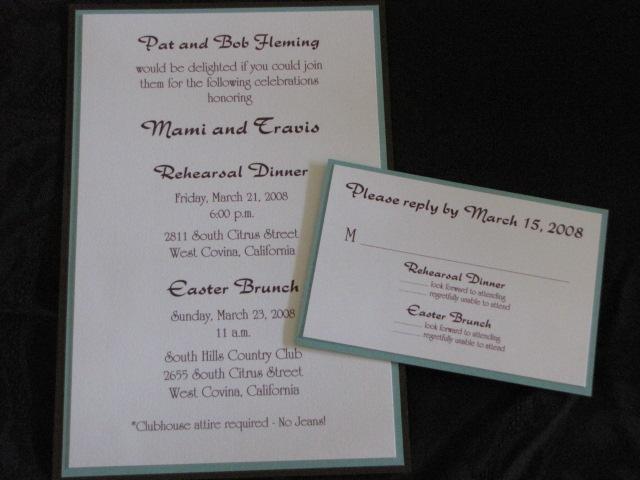 Pre Wedding Dinner Invitation: Rehearsal Invitations » Calligraffitiinvitations.com
