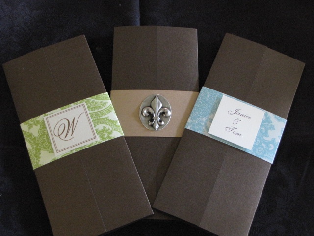 ... Invitation Trifold Inviations Fleur De Lis, Green Band And Blue Band ...