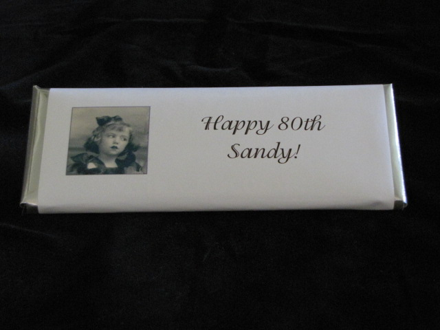candy bar wrapper with picture