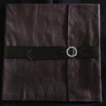 dupioni silk wrap for invitation