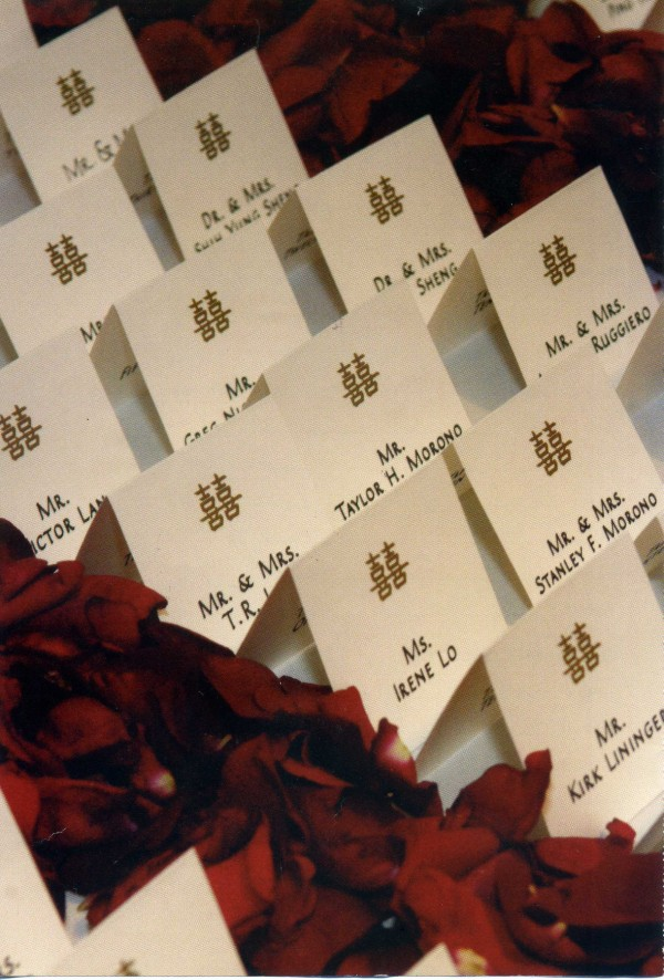 Seating cards at event