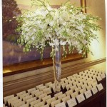 Seating cards on table for guests to find