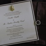 invitation inside dupioni silk wrap some with Indian