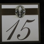 table number fleur de lis