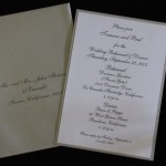 tamara and Paul silver on white rehearsal dinner invitation