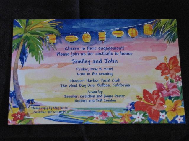 Hawaiin Engagement invite